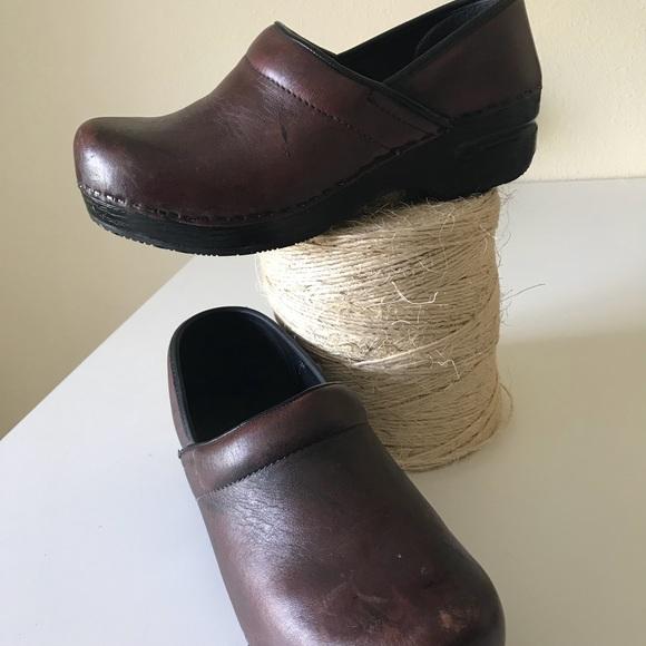 Comfort Shoes Lands End Womens Leather Clogs Slip On Shoes Women's Size 9 Black Comfort Clothing, Shoes & Accessories